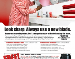 """Look Sharp. Always Use A New Blade"""